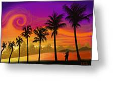 Palms Over St. Croix Greeting Card