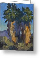 Palms With Skirts Greeting Card
