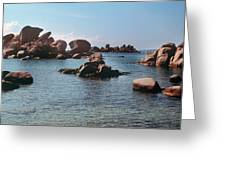 Palombaggia Beach And Rocks, Corsica Greeting Card
