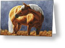 Palomino Horse - Gold Horse Meadow Greeting Card
