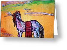 Palomino Horse In Desert Greeting Card