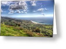 Palos Verdes Peninsula Hdr Greeting Card