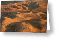 Palouse Contours V Greeting Card by Latah Trail Foundation