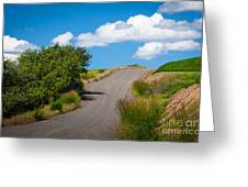 Palouse Country Road Greeting Card