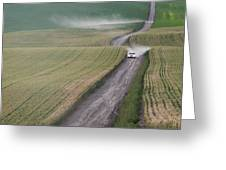 Palouse Dust Trail Greeting Card by Latah Trail Foundation