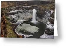 Palouse Falls In Winter Greeting Card