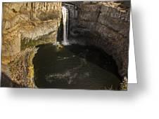 Palouse Falls With Rainbow Greeting Card