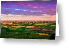 Palouse Land And Sky Greeting Card