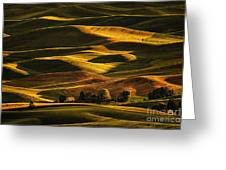 Palouse Sunset From Steptoe Butte Greeting Card