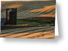 Palouse Sunset Greeting Card by Sandra Bronstein