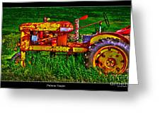 Palouse Tractor Greeting Card