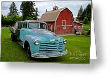 Palouse Truck Greeting Card