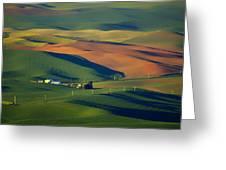 Palouse - Washington - Farms - 1 Greeting Card