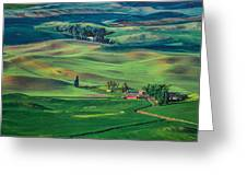 Palouse - Washington - Farms - 4 Greeting Card