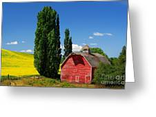 Palouse Weathered Barn Greeting Card