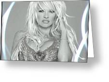 Pamela Anderson - Angel Rays Of Light Greeting Card