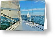 Pamlico Sound Sailing 52 4/14 Greeting Card