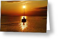 Pamlico Sound Sunset 2 7/26 Greeting Card