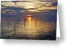 Pamlico Sound Sunset 3 12/5 Greeting Card