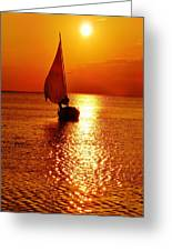 Pamlico Sound Sunset 3 7/26 Greeting Card