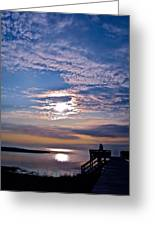 Pamlico Sound Sunset Greeting Card