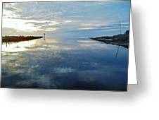 Pamlico Sound Sunset Reflection 7 12/5 Greeting Card