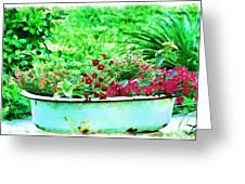 Pan Full Of Color  Digital Paint Greeting Card