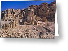 Panaca Formations In Cathedral Gorge State Park Nevada Greeting Card