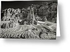 Panaca Sandstone Formations In Black And White Nevada Landscape Greeting Card