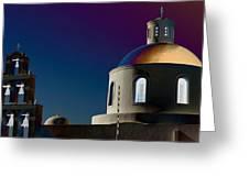 The Church Of Panagia Of Platsani Greeting Card