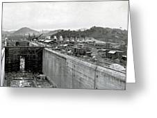 Panama Canal Construction 1910 Greeting Card
