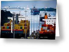 Panama Canal Express Greeting Card