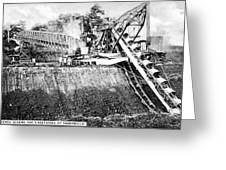 Panama Canal French Work Greeting Card