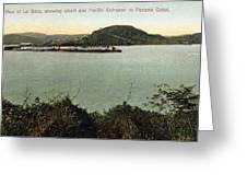 Panama Canal La Boca Greeting Card