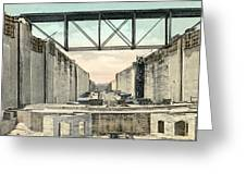 Panama Canal Locks Greeting Card