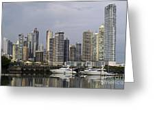 Panama City Skyline Panama Greeting Card