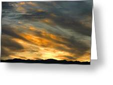 Panamint Sunset Greeting Card
