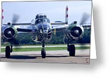 Panchito B 25 J Warbird Greeting Card