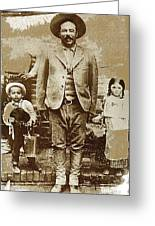 Pancho Villa  Portrait With Children No Location Or Date-2013 Greeting Card