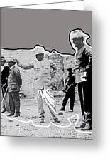Pancho Villa  Shooting Pistol Mexico City 1914-2013 Greeting Card
