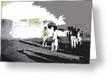 Pancho Villa Talking To Firing Squad Sonora C.1914-2013 Greeting Card