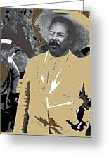 Pancho Villa  Wearing Sombrero Unknown Location 1914-1920-2013 Greeting Card