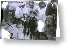 Pancho Villa With Children #1  Durango C. Greeting Card