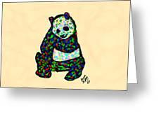 Panda A La Fauvism Greeting Card