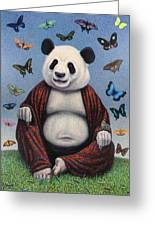Panda Buddha Greeting Card