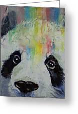 Panda Rainbow Greeting Card