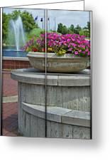 Sample Paneled Concrete Flower Pot Greeting Card