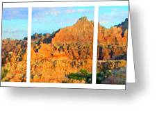 Panels Of A Canyon Greeting Card