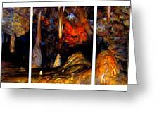 Panels Of A Cave Greeting Card