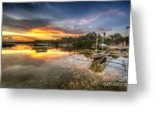 Panglao Port Sunset Greeting Card